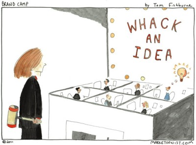 Whack an Idea cartoon