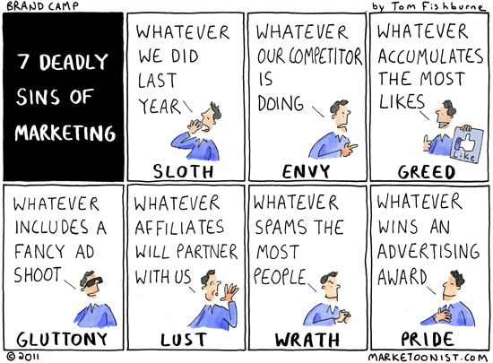 7 deadly sins of marketing