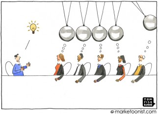 """Creativity by Committee"" cartoon"