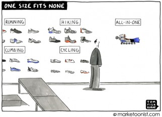 """One Size Fits None"" cartoon"