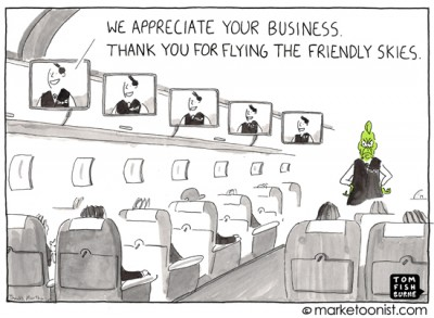 """we appreciate your business"" cartoon"