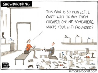 """Showrooming"" cartoon"