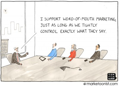 """word of mouth marketing"" cartoon"