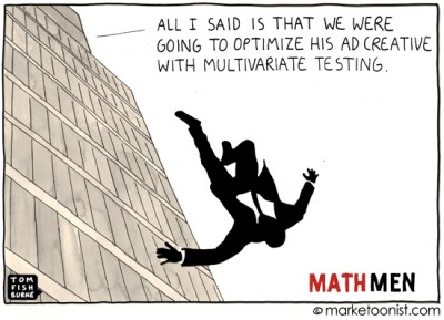 """Math Men and Data-Driven Marketing"" cartoon"