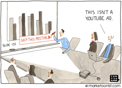 """Skip This Ad"" cartoon"