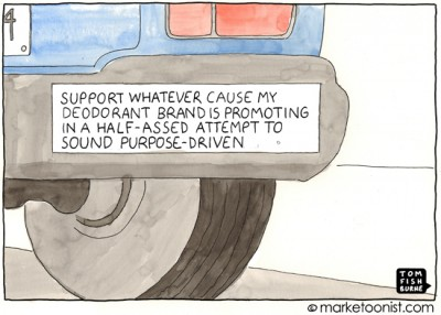 """Purpose-Driven Branding"" cartoon"