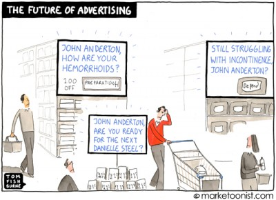 """The Future of Advertising"" cartoon"