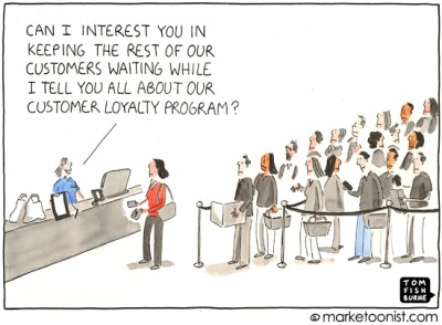 """Loyalty Program"" cartoon"