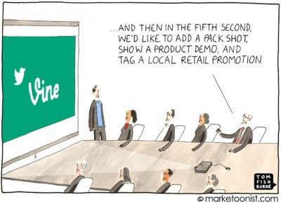 """Short Attention Span Marketing"" cartoon"