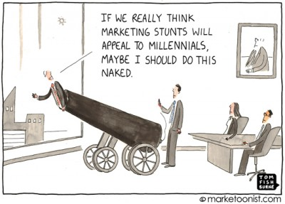 """Marketing Stunts"" cartoon"