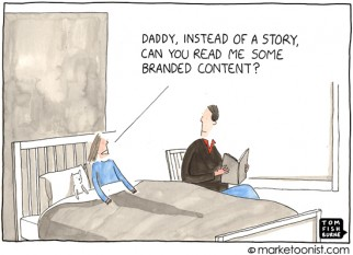 """Branded Content"" cartoon"