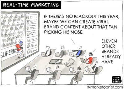 """Real-time Marketing"" cartoon"