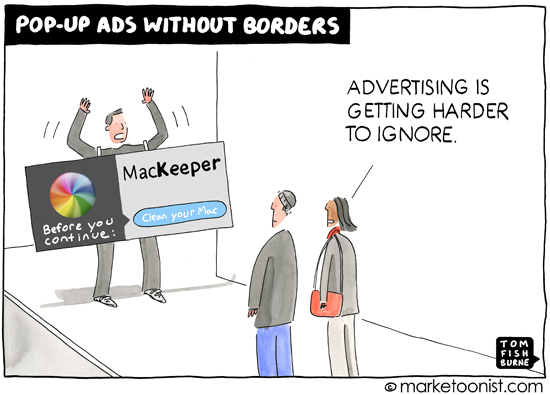 """Pop Up Advertising"" cartoon"