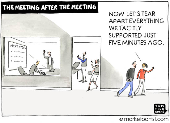"""Meeting after the Meeting"" cartoon"