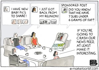 """Sponsored Posts"" cartoon"