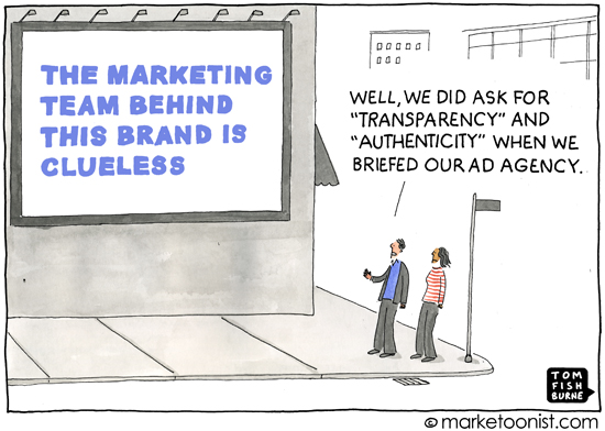 Being authentic about a client's marketing team