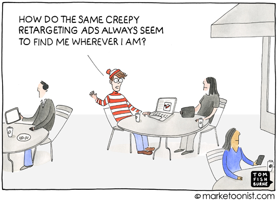 """Retargeting Ads"" cartoon"
