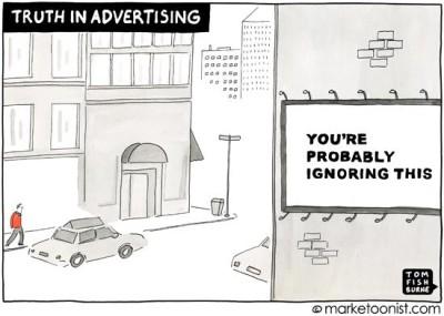 """Truth in Advertising"" cartoon"