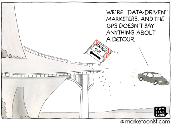 """Data-Driven Marketing"" cartoon"