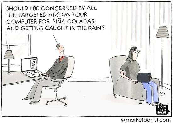 """Targeted Ads"" cartoon"