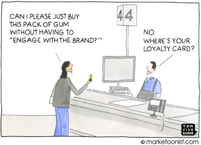 """Brand Engagement"" cartoon"