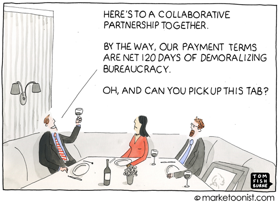 """""""Client-Agency Relationships"""" cartoon"""