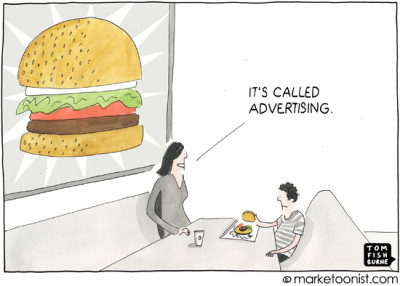 """Advertising"" cartoon"