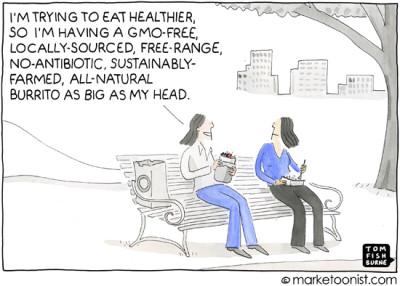 """""""health food"""" cartoon"""