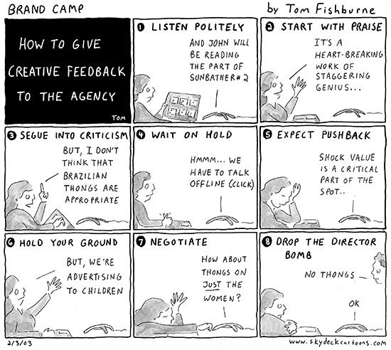how to give creative feedback to the agency