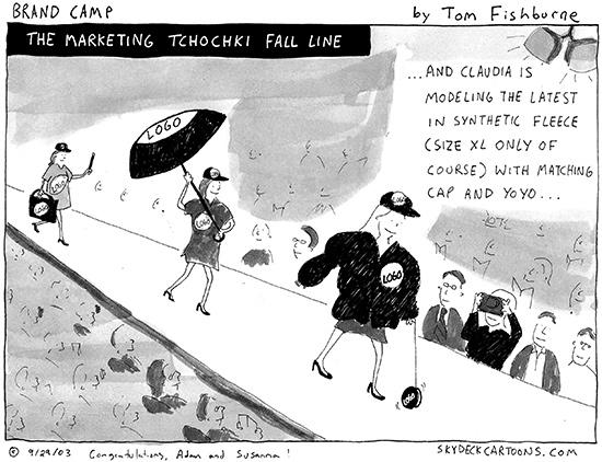 the marketing tchocki fall line