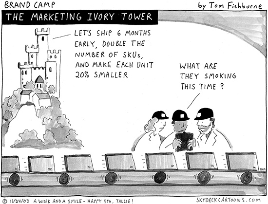 the marketing ivory tower