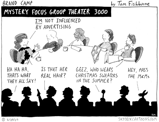 mystery focus group theater 3,000