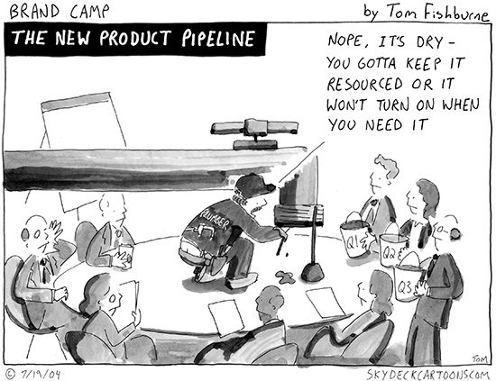 the new product pipeline