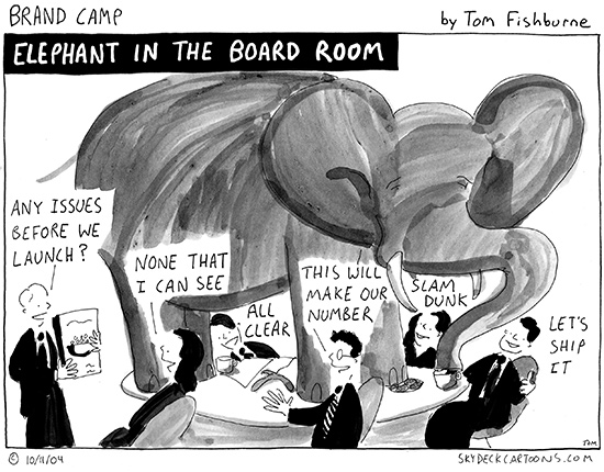 elephant in the board room