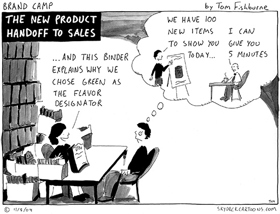 the new product handoff to sales