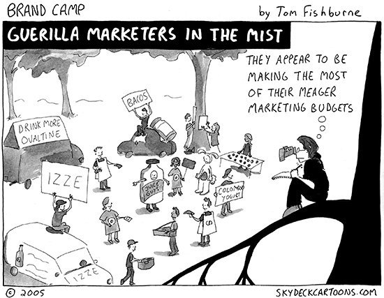 guerilla marketers in the mist